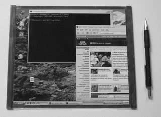 Roll-up laptop screens for truly portable computing