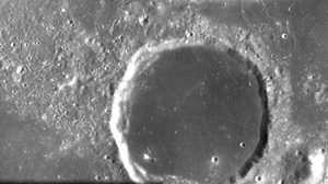 Dark lava floor of crater Billy seen by SMART-1