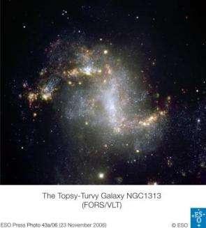 The topsy-turvy galaxy