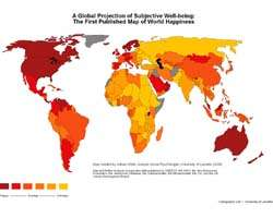 First Ever World Map Of Happiness Produced