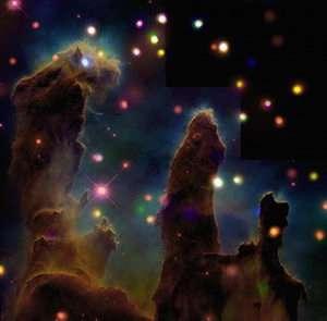 Peering into the Pillars of Creation