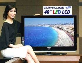 """40"""" LED-backlit 'Display of Year' from Samsung"""