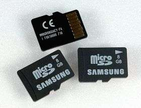 Samsung develops 8 GB microSD memory card for mobile