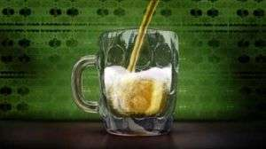 Animated beer smooth to pour