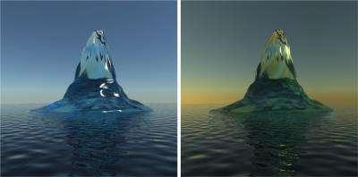 Bottle-Green Icebergs