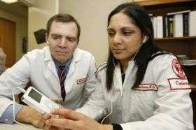 Doctors listening to iPod