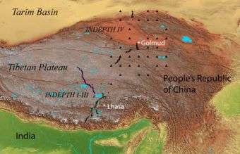Plateau Of Tibet On Map Of Asia.Geologists To Test Theory That Asia Is Being Stuffed Under Tibetan