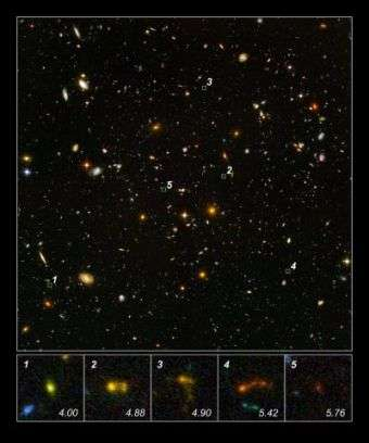 Hubble, Spitzer find 'Lego-block' galaxies in early universe