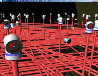 Virtual 3D nanorobots could lead to real cancer-fighting technology