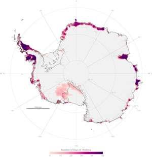 NASA researchers find snowmelt in Antarctica creeping inland