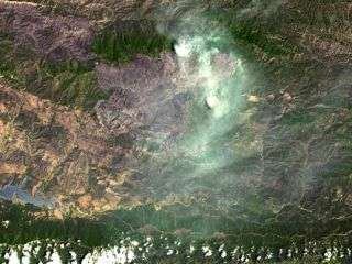 NASA Sees Santa Barbara Wildfires