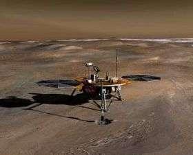 Phoenix on the surface of Mars