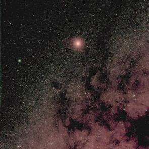 Rosetta's view of Mars and the Milky Way