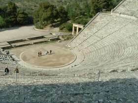 Seats helped ancient greeks hear from back row
