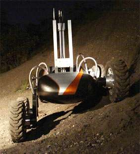 NASA Team Demonstrates Robot Technology For Moon Exploration