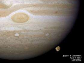 Scientists Make Image, Movie of a Jupiter Moon Setting