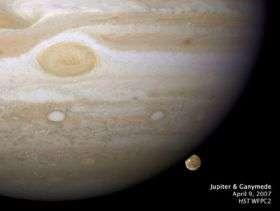 Scientist Makes Image, Movie of a Jupiter Moon Setting