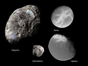 Cassini finds mingling moons may share a dark past