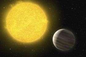 A Planet Around a Hot Star