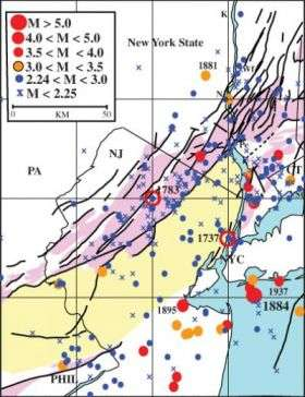 Earthquakes may endanger New York more than formerly believed on indian travel map, indian military map, cartoon city town map, indian alaska map, indian history map, indian reservation map new jersey, indian usa map, indian asia map, indian china map, mohawk indian territory oklahoma map, indian united states map, indian ohio map, indian texas map, indian florida map,