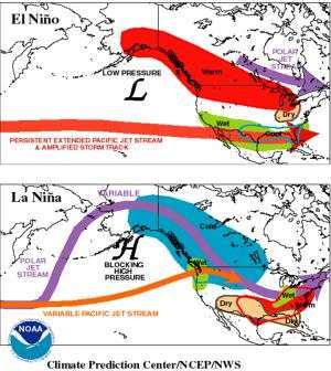 El Nino at Play as Source of More Intense Regional U.S. Wintertime Storms