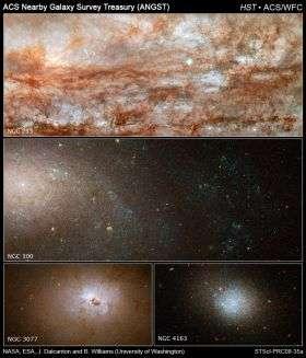 Hubble Snaps Close-up Views of Diverse Galaxies