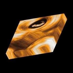 Human Bone Lamellae in 3D Orange on Black Background No Specs