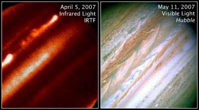Internal Heat Drives Jupiter's Giant Storm Eruption