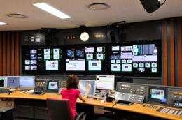 Master Control Equipment installed at Fuji TV