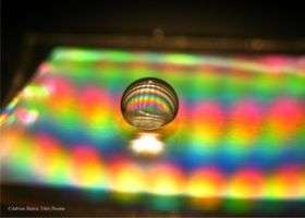 Measuring sound with a nanoscopic air bubble