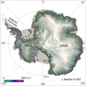 Satelite Image of Ice Loss
