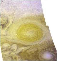 Storn winds blow in Jupiter's Little Red Spot