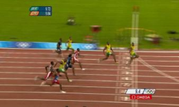 f4764d94533750 This photo montage shows Usain Bolt s position relative to the other  runners