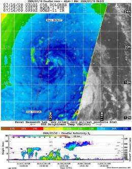 2 NASA satellites see remnant low Dolores go out kicking