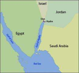 Gulf Of Aqaba Map Bridging the political divide across the Gulf of Aqaba