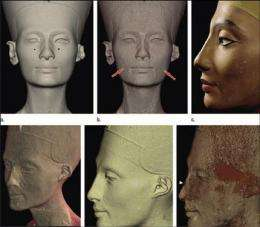 CT scan reveals hidden face under Nefertiti bust (AP)