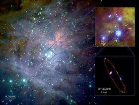 Hundred metre virtual telescope captures unique detailed colour image