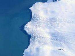 Peering under the ice of a collapsing polar coast