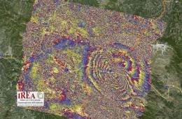 Satellites show how Earth moved during Italy quake