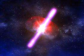 Swift Satellite records early phase of gamma ray burst