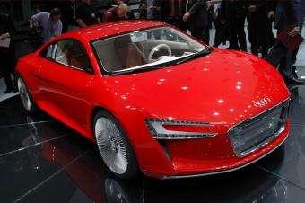 The Audi e-tron concept electric car