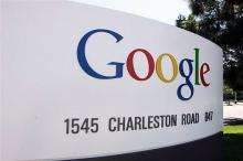 The logo of Internet search engine company Google its headquarters in Mountain View California