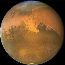 This NASA Hubble Space Telescope image shows Mars