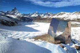 This undated picture released by Swiss Federal Institute of Technology Zurich shows the new Monte Rosa refuge