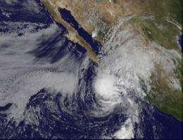 Tropical Storm Rick's center expected to pass south of the Baja