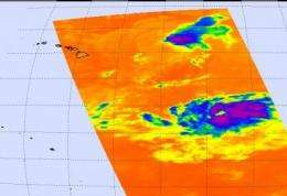 NASA satellites catch two views of Felicia already affecting Hawaii
