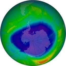 NASA Satellite Data Show Progress of 2009 Antarctic Ozone Hole