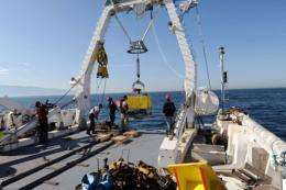 Researchers from France and Turkey scanned the Marmara's seabed over six weeks