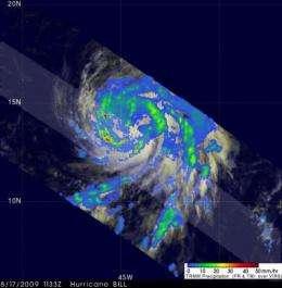 2 NASA satellites capture Hurricane Bill's 'baby pictures'