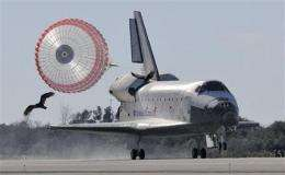 Space shuttle Atlantis, 7 astronauts back on Earth (AP)